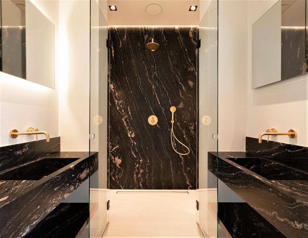 Tropical Storm quarzite luxury bathroom