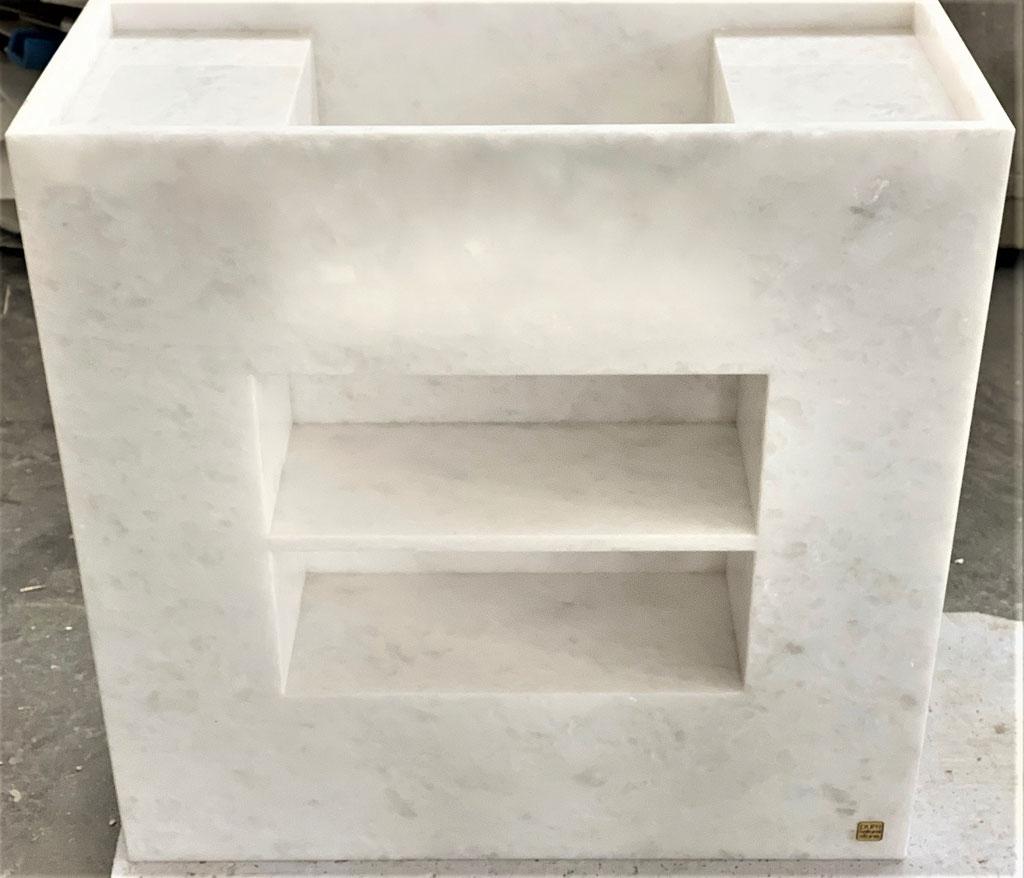 Snow White marble basin