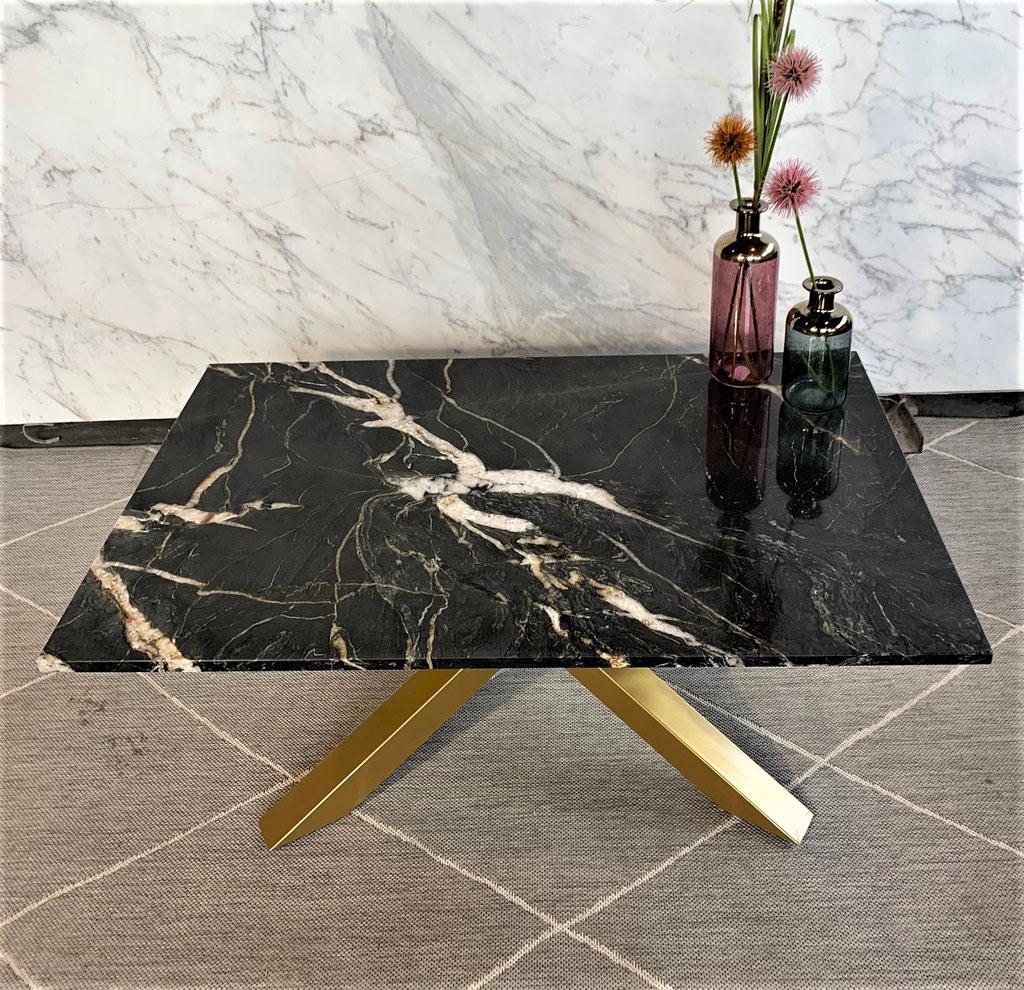 Belvedere graniet met goud - staal frame