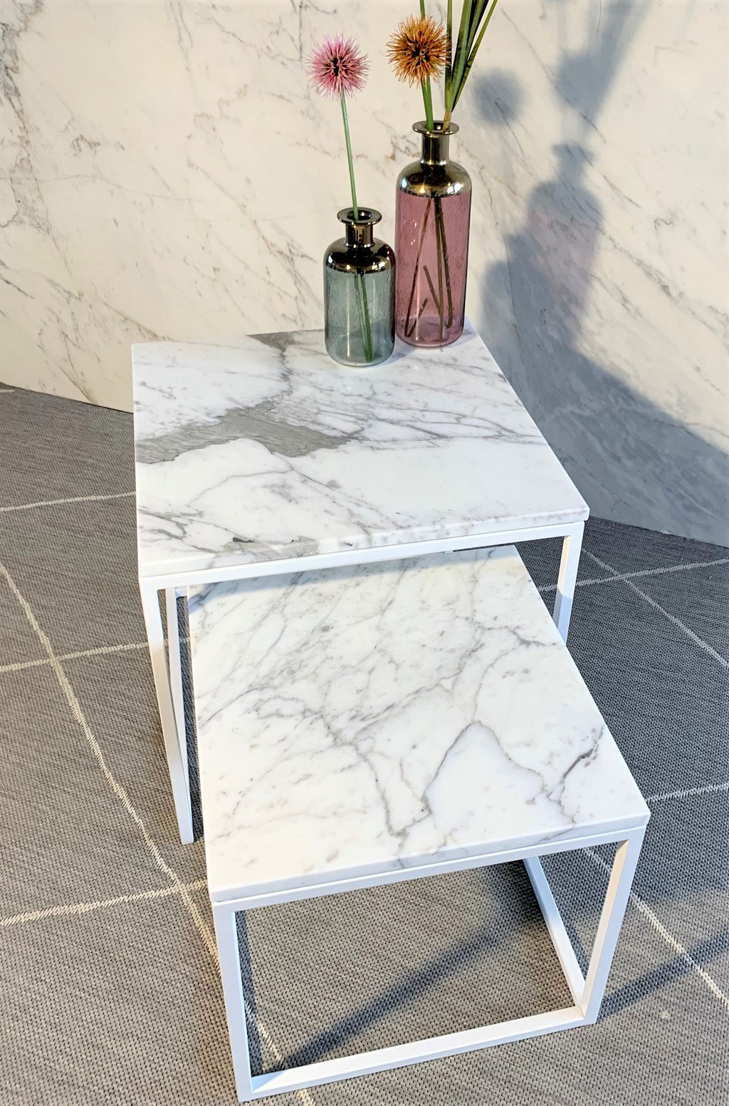Model Costa marble side table set