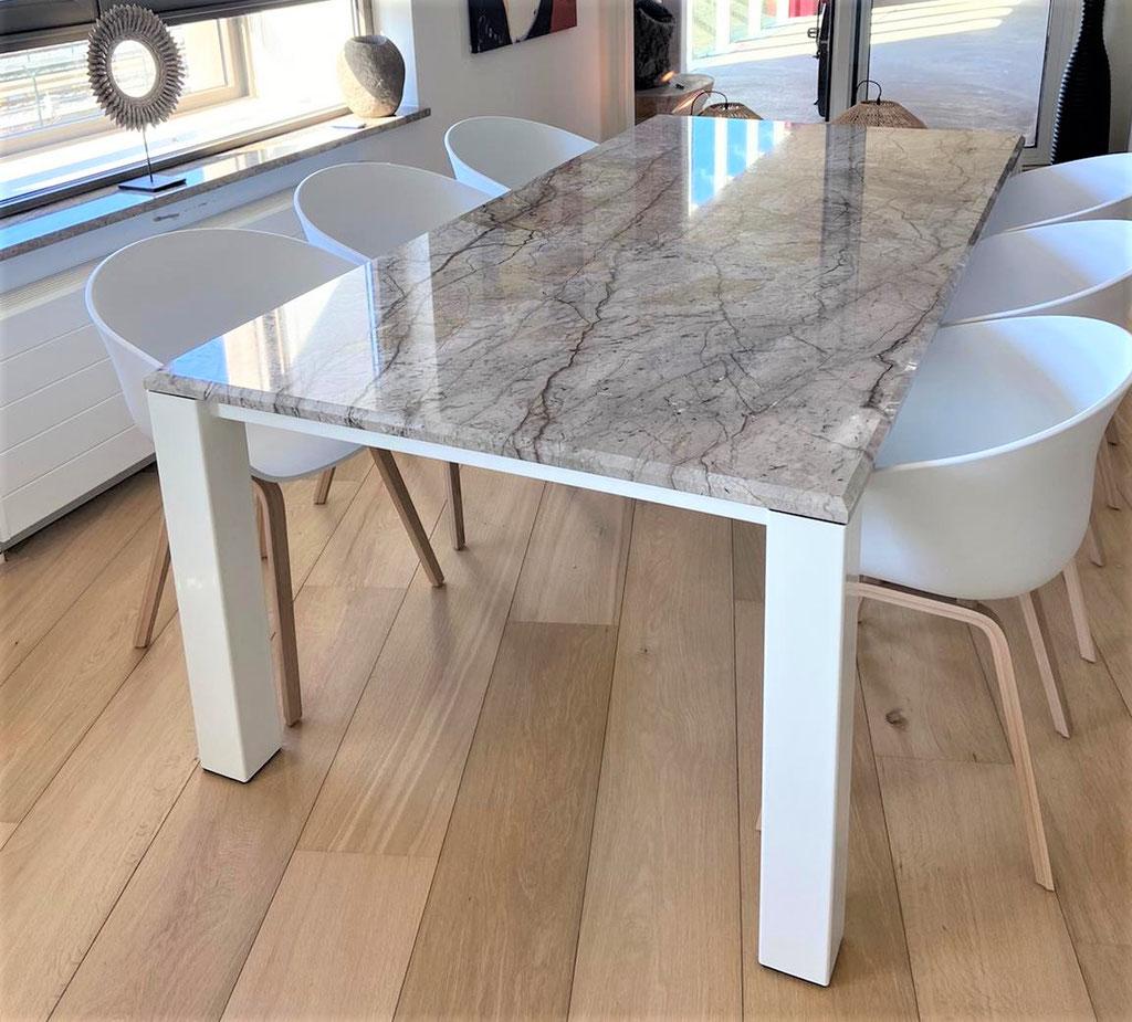 Silver Roots marmer maatwerk tafel