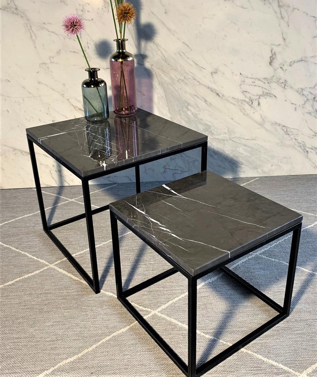Grafite marble side table set