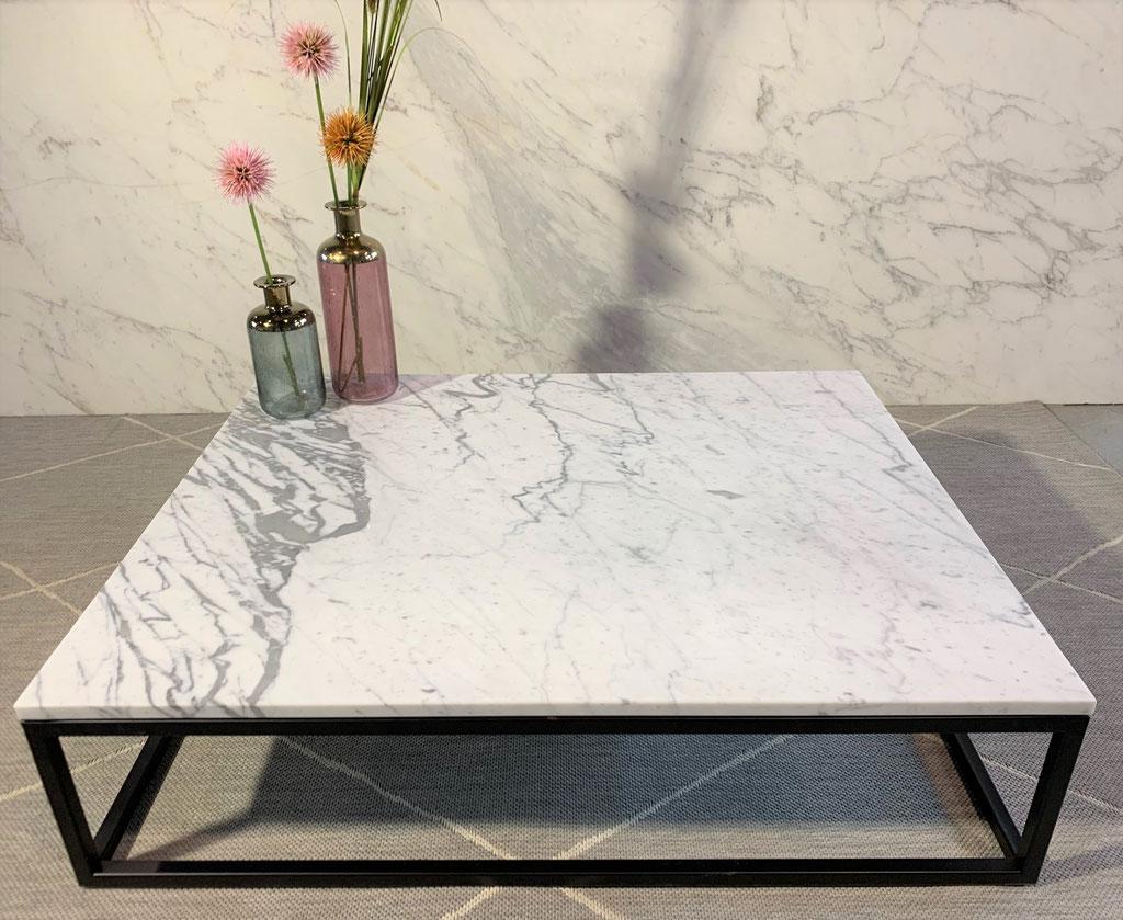 Statuario marble center table
