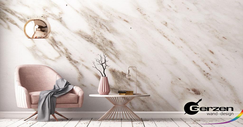 Marmormalerei, Marmortechnik, Marmorimitation - Wandgestaltung im Steinlook