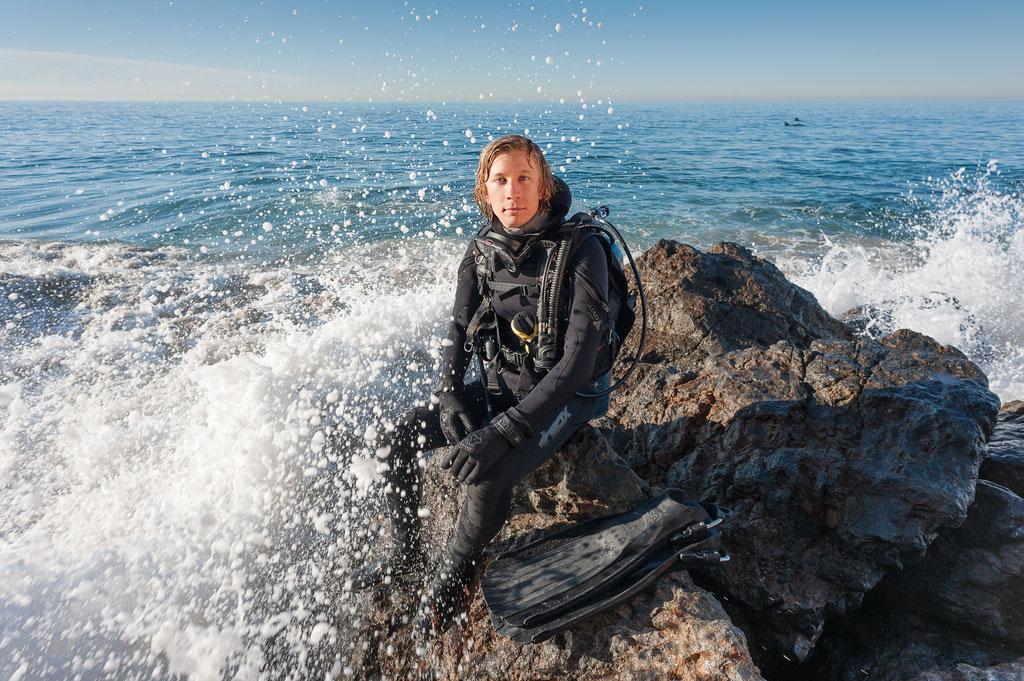 Brent Durand, Diver | Point Dume in Malibu, CA | 2013