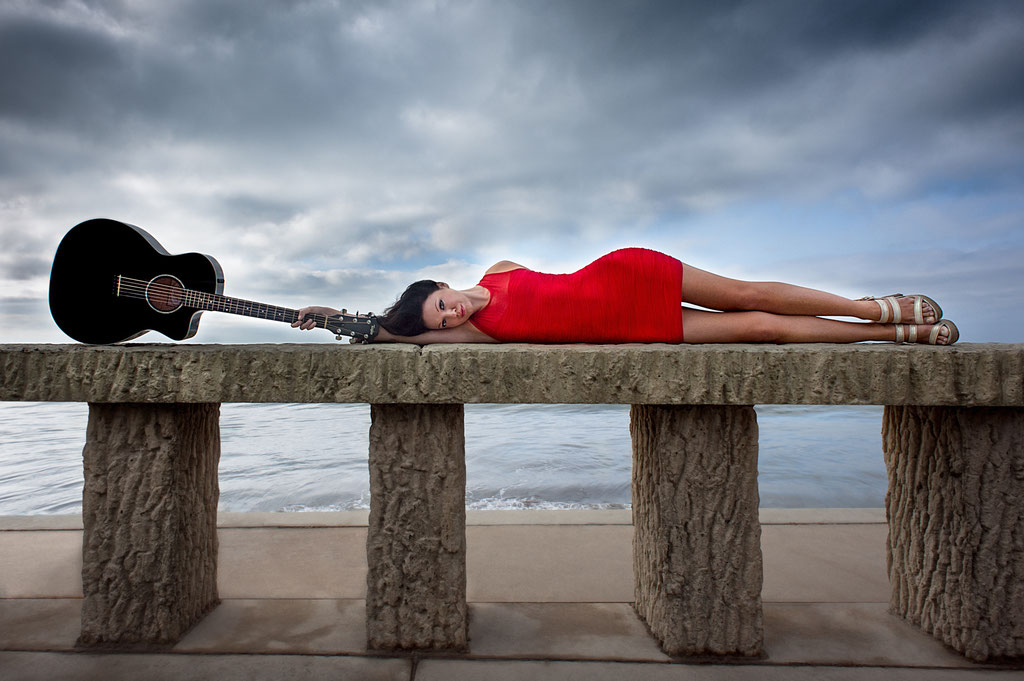 Amy May, Musician | Butterfly Beach in Santa Barbara, CA | 2012