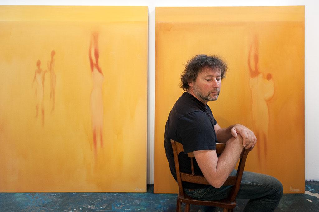 Gary Palmer, Painter | Gary's Art Studio in Venice, CA | 2013