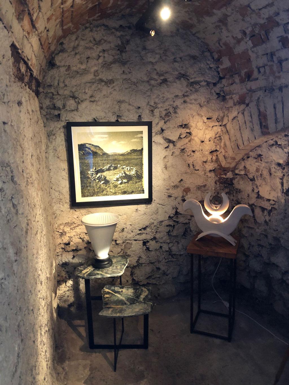 Lichtobjekt, Lampe, Mond, Isis, Keramik, Skulptur, Wolfgang Wallner, Wohnskulpturen, Hall in Tirol