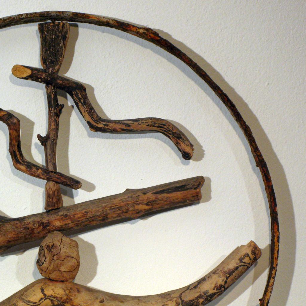 Medizinrad, Skulptur, Kunst, Kraftobjekte Wolfgang Wallner Hall in Tirol