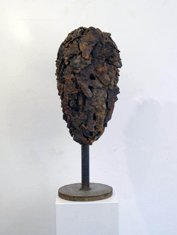 Neptunshaupt, Skulptur, Kunst, Metall, Rost Art, Kraftobjekte Wolfgang Wallner Hall in Tirol