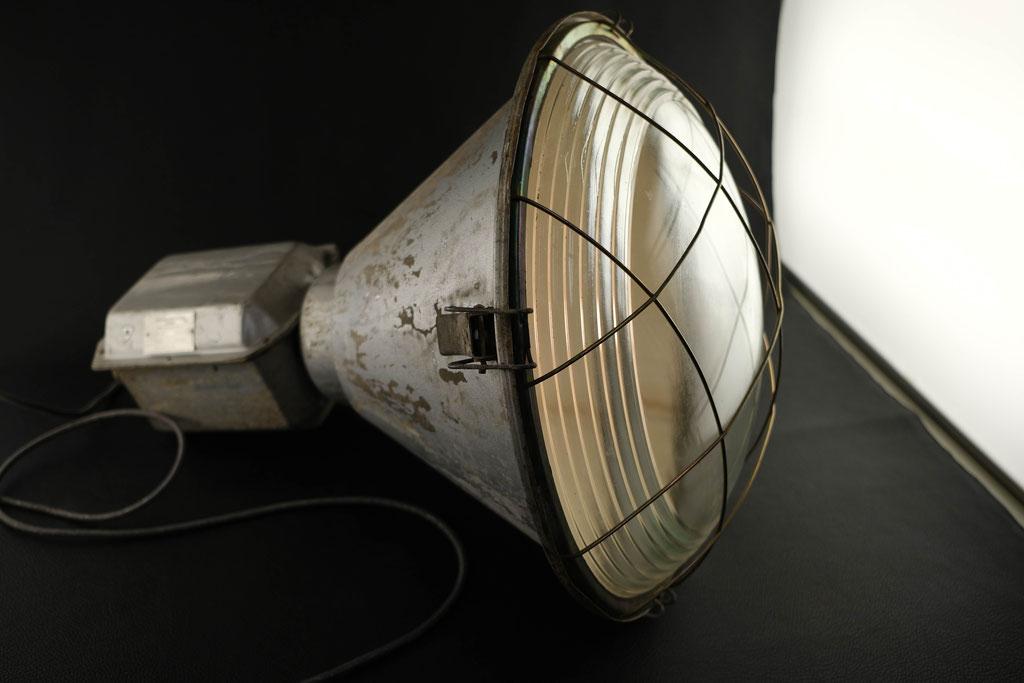 Industrielampe, Lichtobjekt, Lampe, Wohnskulptur, Wolfgang Wallner, Hall in Tirol