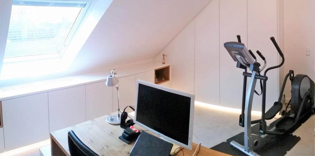 Planung Büro. Innenarchitekt Rolf Kullmann, Atelier Feynsinn Köln