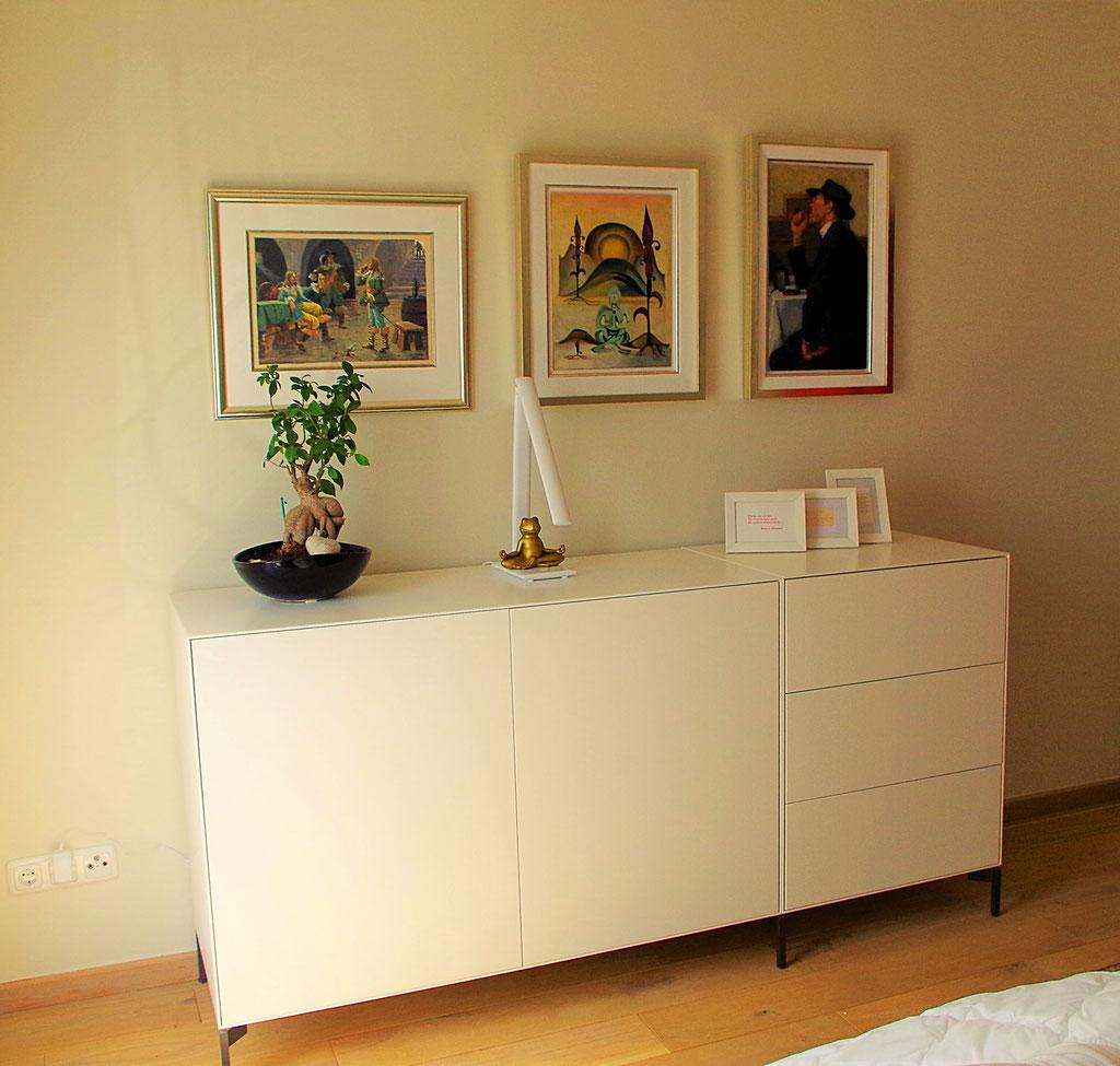 Sideboard Schlafzimmer, Rolf Kullmann Innenarchitekt, Atelier Feynsinn, Köln