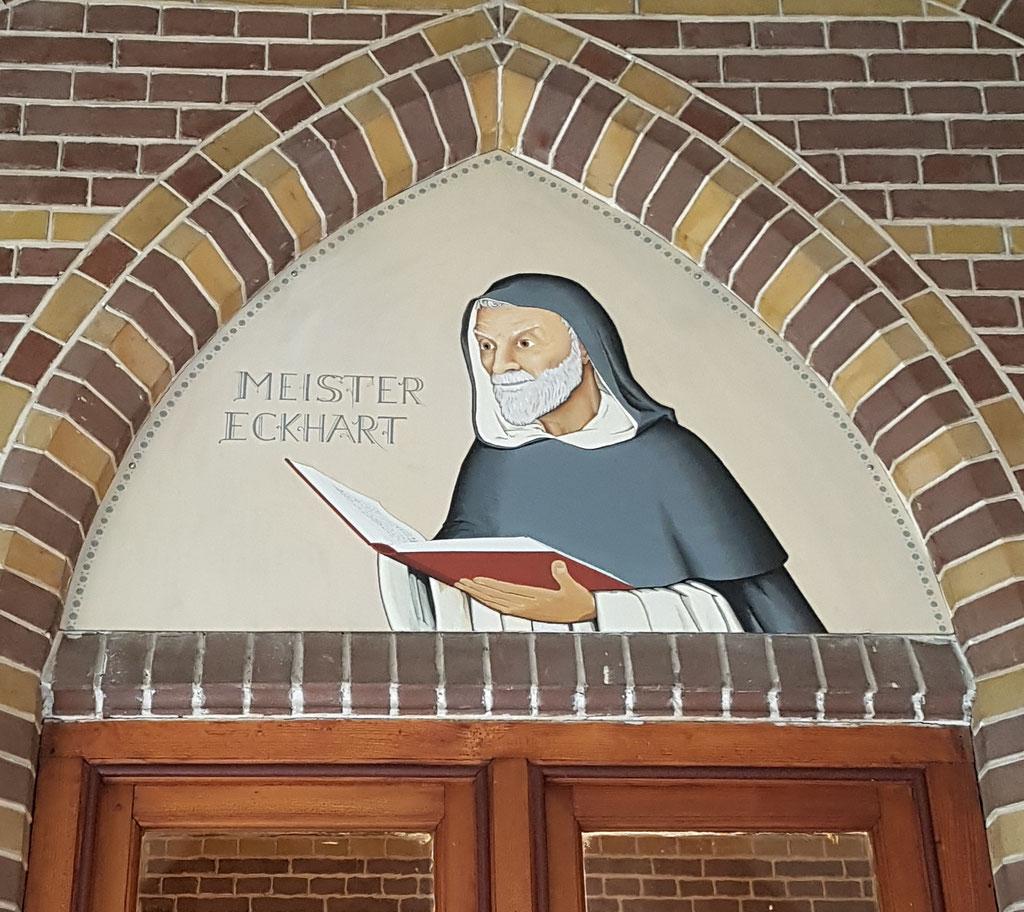 Meister Eckart, Acryl op paneel, kloostergang Dominicanenklooster Zwolle.