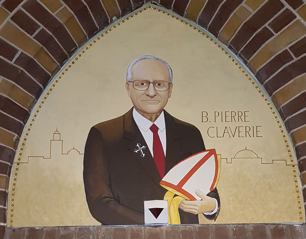 Pierre Claverie, Acryl op paneel, kloostergang Dominicanenklooster Zwolle.