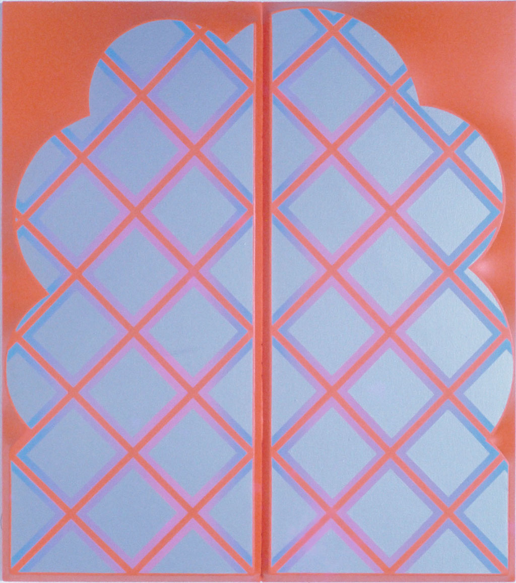 CROSS WORK 68-4 1968 Oil on shaped canvas 120x108cm
