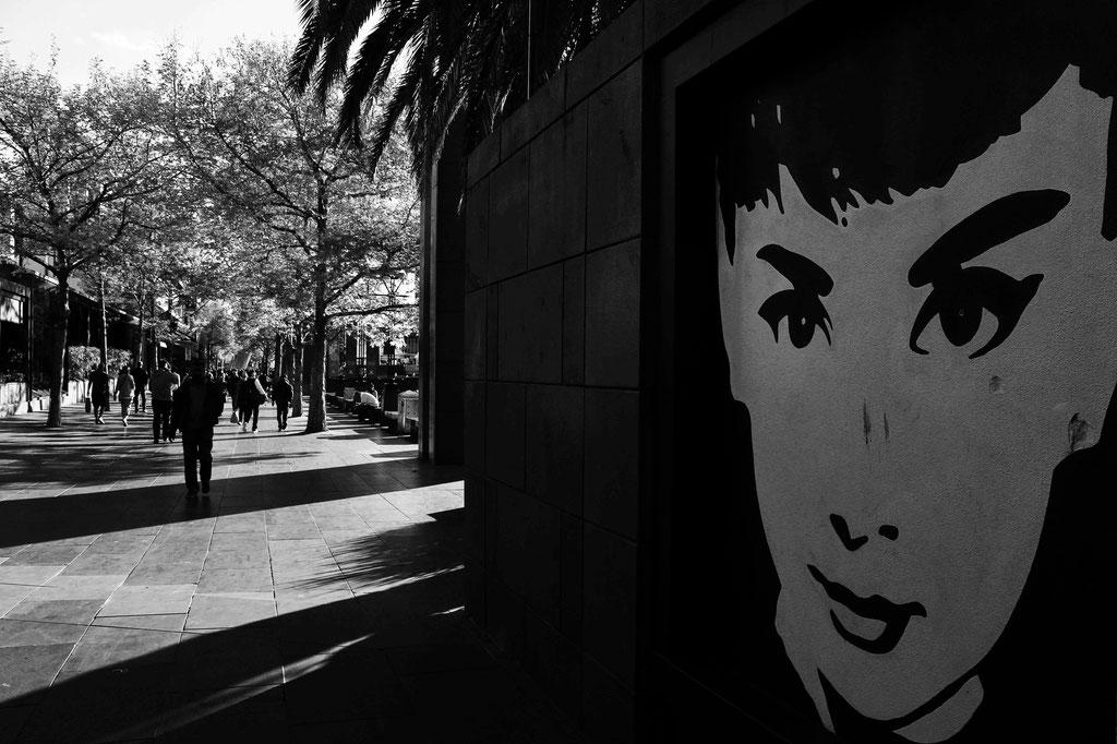 Audrey Hepburn setting the scene on Melbourne's Southbank- October 2015