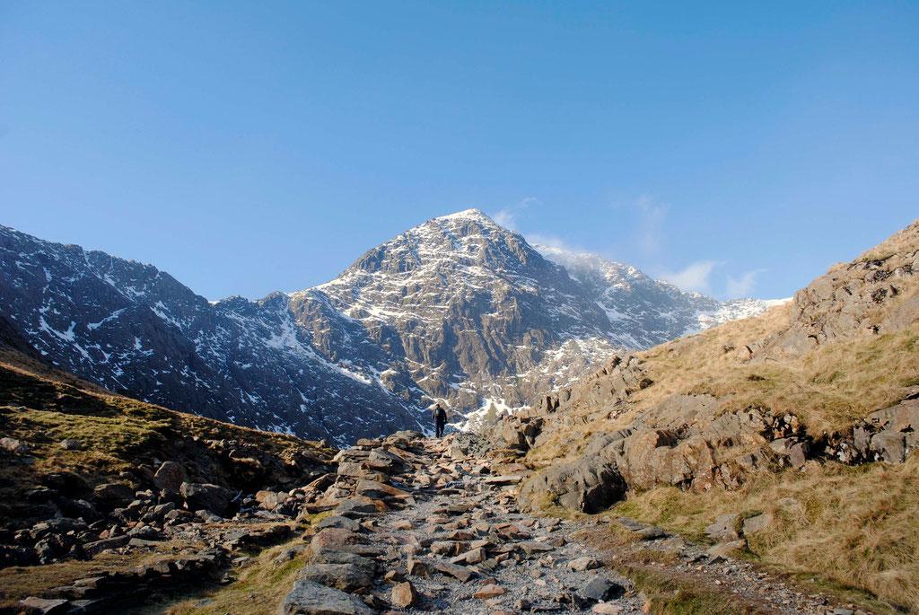 Man versus the Mountain- Snowden, Wales.