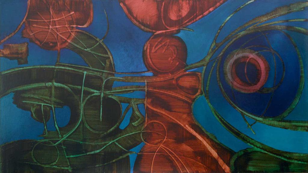 153 x 85 cm, huile sur panneau, 1975, Bataille des Chevalliers