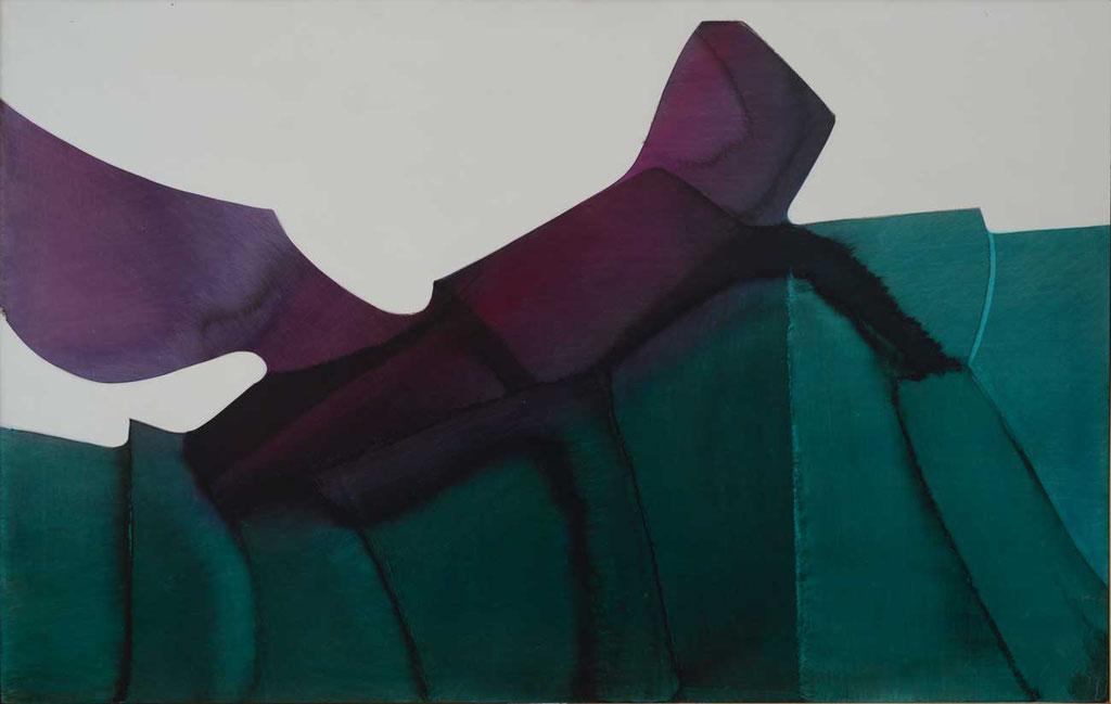 103 x 66 cm, huile sur panneau, 1977, L'insecte