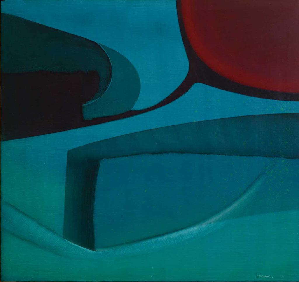 68.5 x 65.5 cm, huile sur panneau, 1976