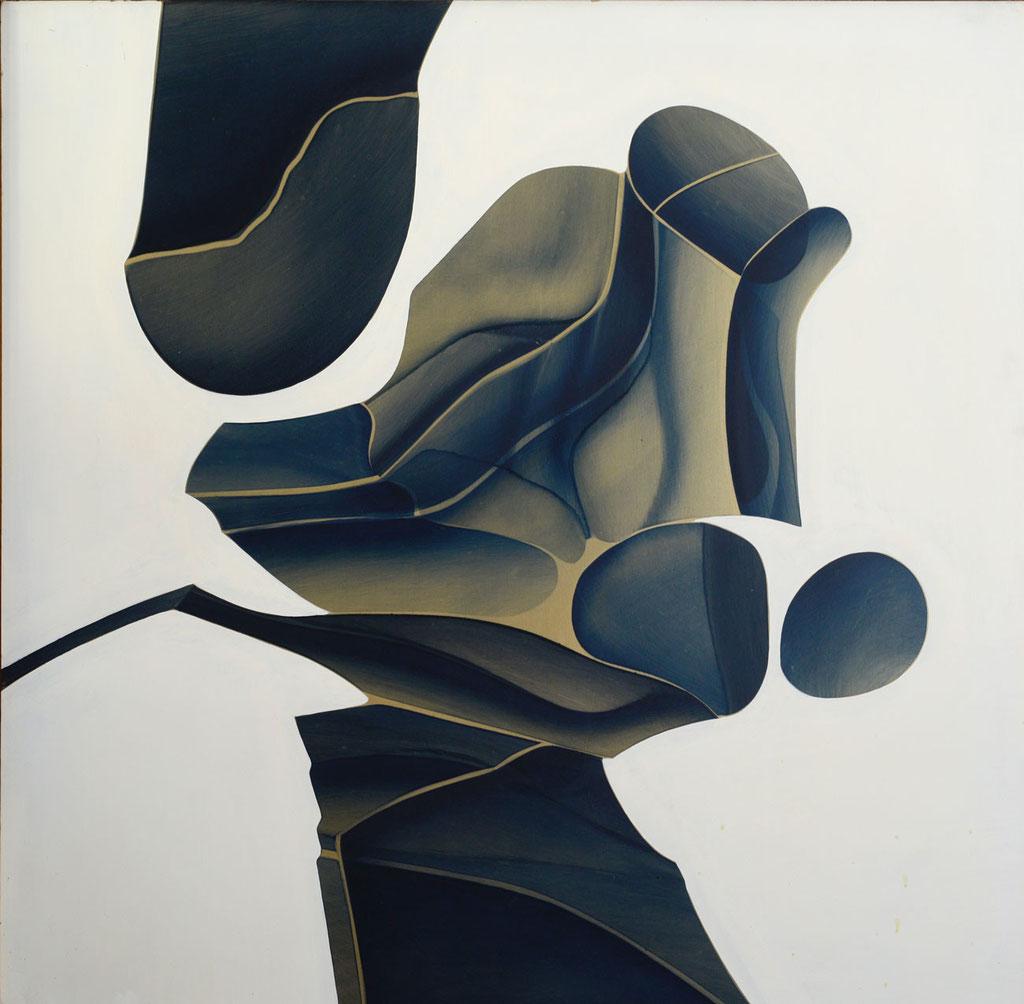 98 x 98 cm, huile sur panneau, 1980, Figure