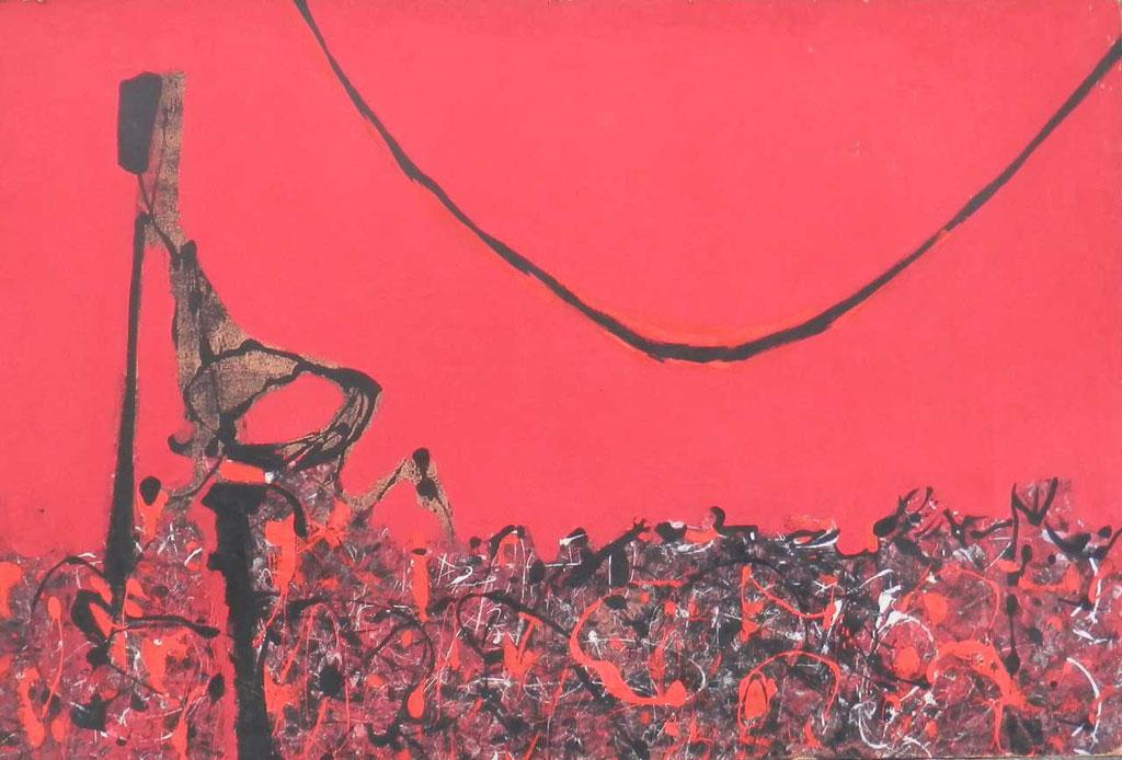 148,5 x 100,5 cm, huile sur panneau, 1952, L'Insecte