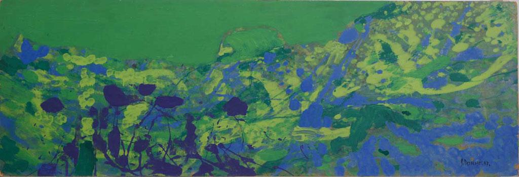 105 x 36 cm, huile sur panneau, 1957