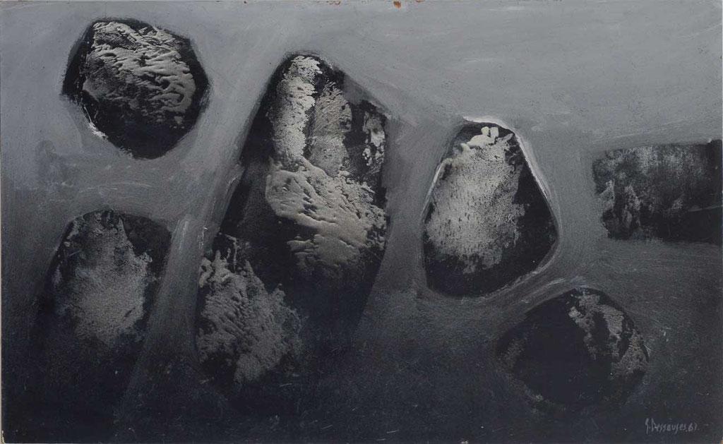 96 x 59 cm, huile sur panneau, 1961