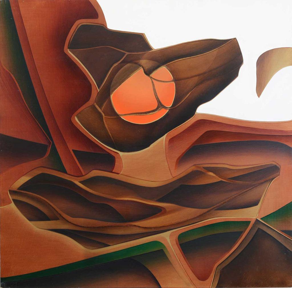 92 x 92 cm, huile sur panneau, 1982