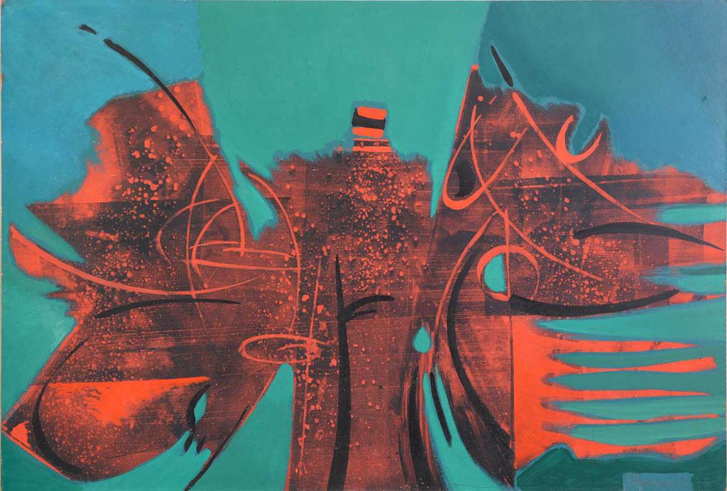 123 x 83 cm, huile sur panneau, 1962