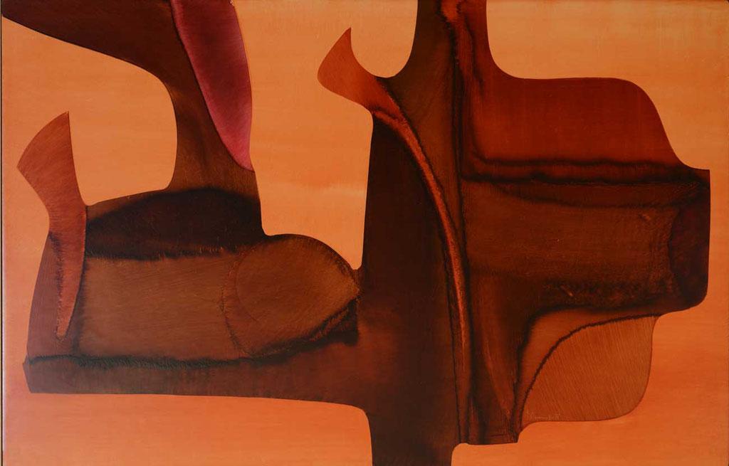 103 x 66 cm, huile sur panneau, 1977, L'entente