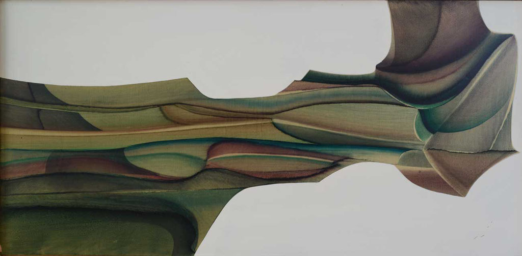 98 x 48 cm, huile sur panneau
