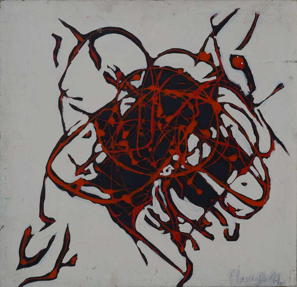 52 x 51 cm, huile sur panneau, 1962