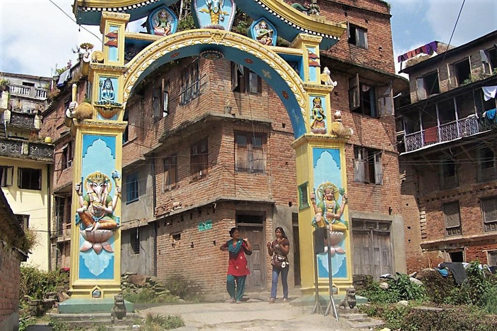 de dorpspoort van Sankhu