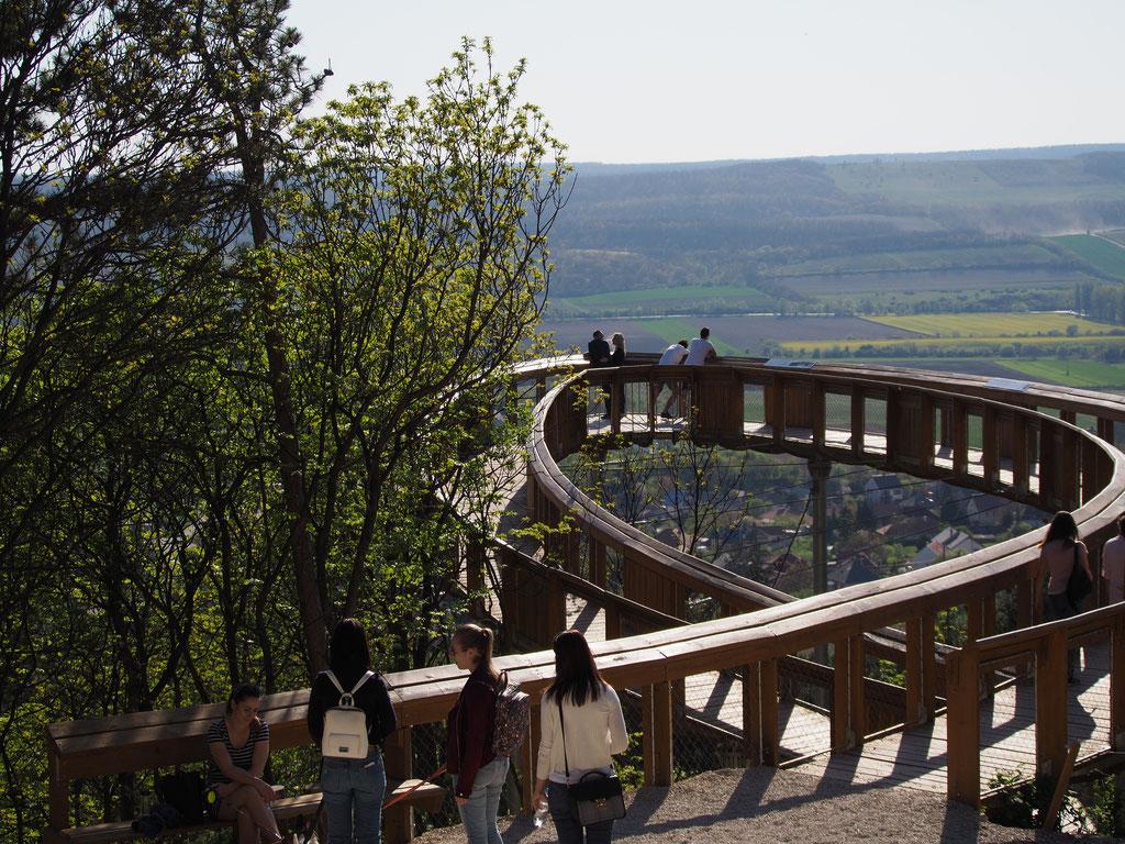 uitzichtpunt achter de abdij van Pannonhalma