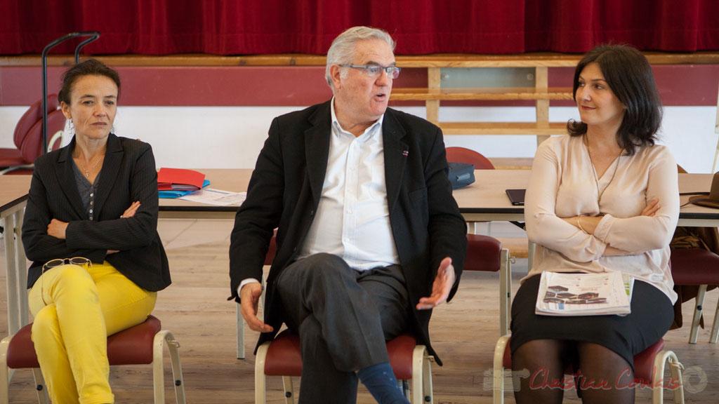 Mathilde Feld, Présidente de la CDC du Créonnais, remplaçante, Jean-Marie Darmian, Vice-président du département, Anne-Laure Fabre-Nadler, Vice-présidente du Conseil départemental