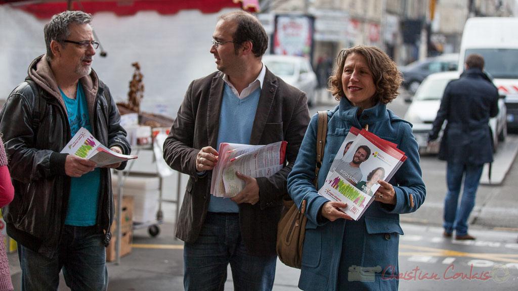 """Marché des Capucins, liste """"faisons ensemble"""", La vague citoyenne, Aquitaine, Limousin, Poitou-Charentes"""