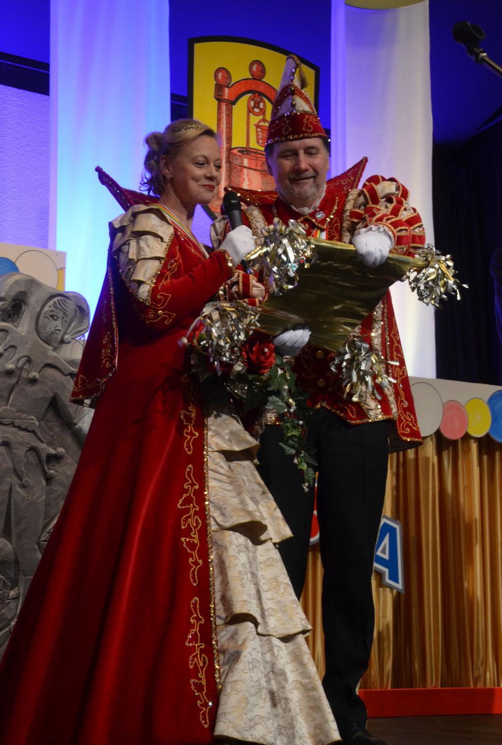 Grußworte des Prinzenpaares der Sparkasse Groß-Gerau Elke I. und Norbert II.