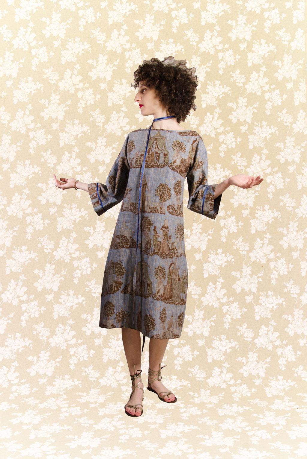 Kleid Yasu aus Leinengewebe
