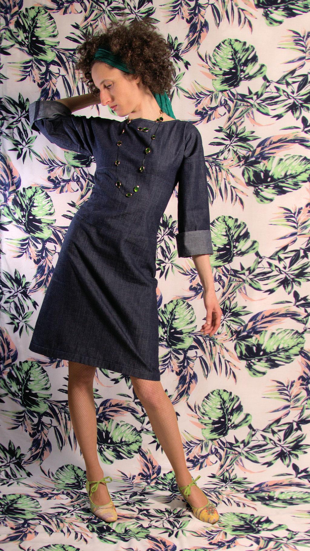 Kleid BIO-Tomoe aus Bio-Baumwolle kbA, Denim