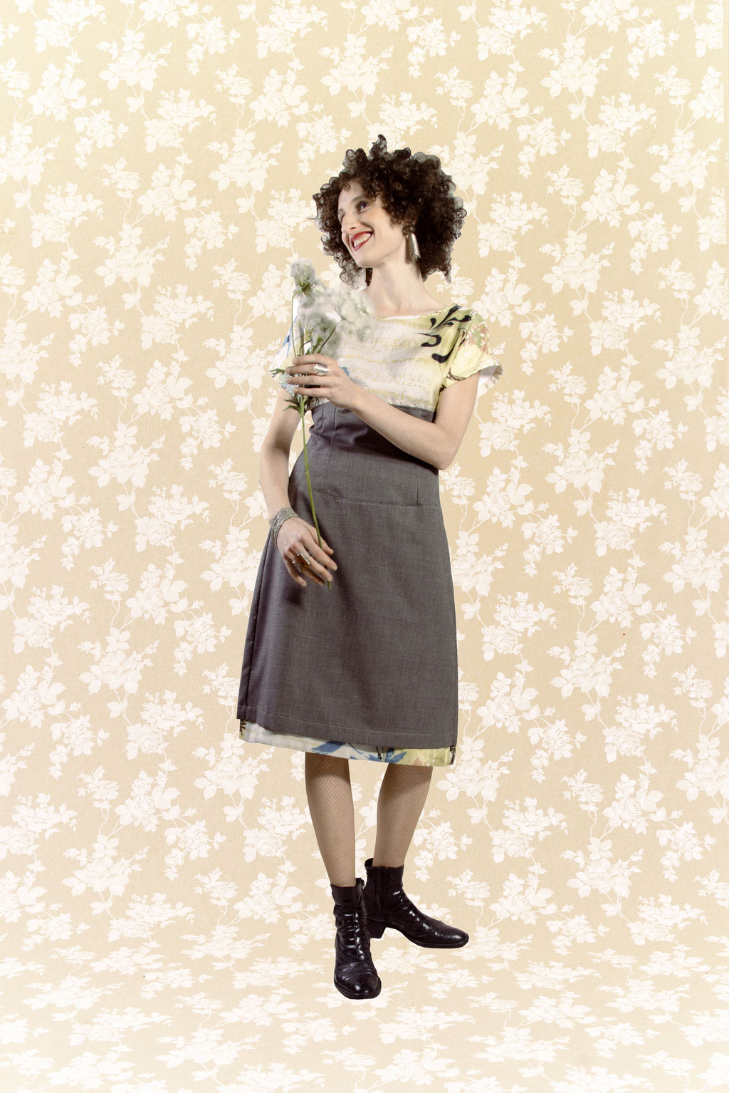 Kleid Tomomi aus Seide, Baumwolle und Wolle