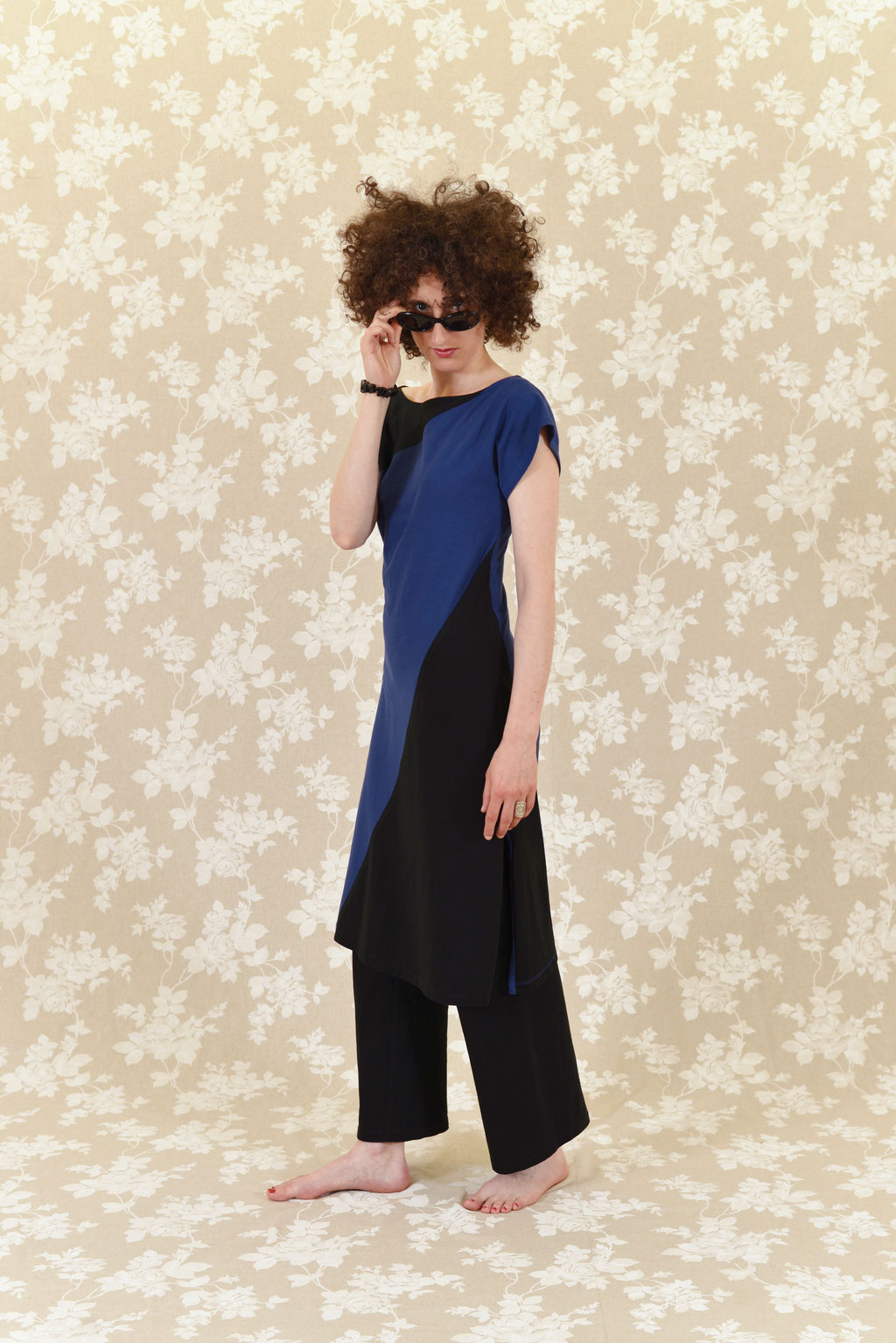 Kleid BIO-Maiko und Hose BIO-Leora aus Baumwolle aus kontrolliert biologischem Anbau, Jersey