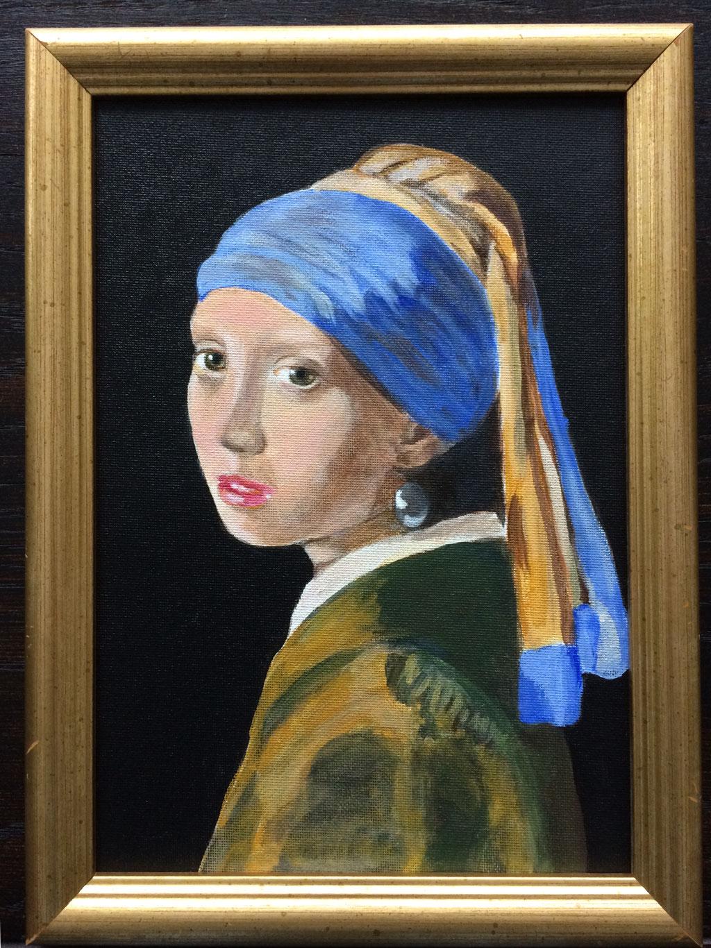 Meisje met de parel van Vermeer, A4
