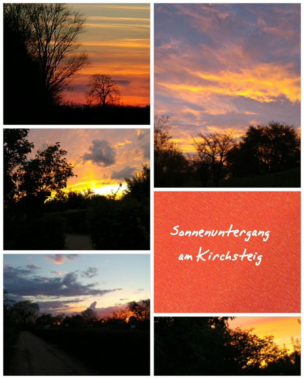 Sonnenuntergang am Kirchsteig