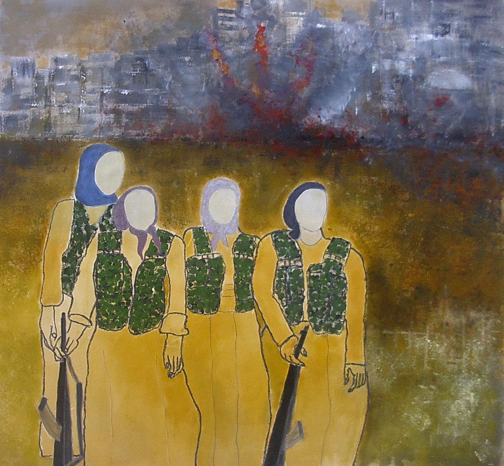 Kurdische Kämpferinnen 160 x 170 cm