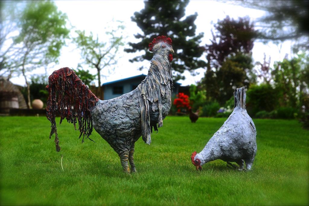 Big Garden Chickens - Powertex