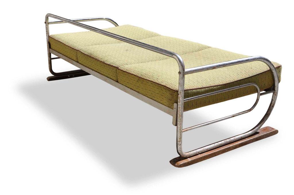 divano in tubolare cromato Bauhaus