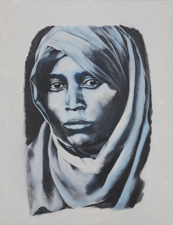 Wüstenfrau - Acryl auf Leinwand 180x140cm - 2015 Nizza