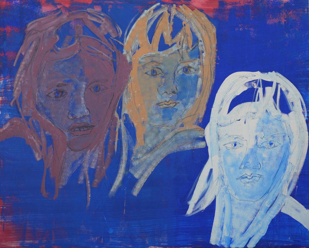 Friends - Acryl auf Leinwand 200x250cm - 2018 Murnau